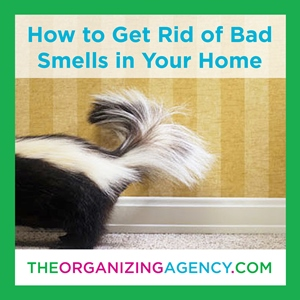 how to get rid of bad smells at home a guide to banish bad smells for good the organizing agency. Black Bedroom Furniture Sets. Home Design Ideas