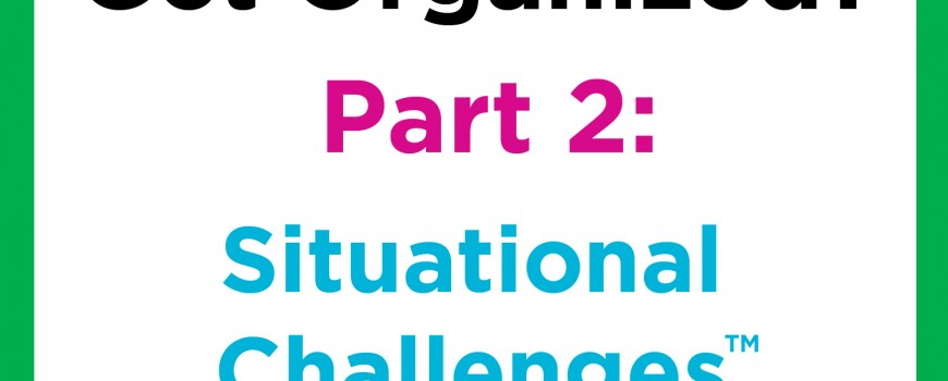 Get Organized Situational Challenges